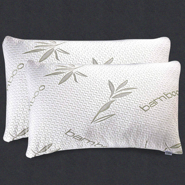 Bamboo Pillow 2 Pack - Shredded (Premium) Memory Foam Pillow - Adjustable